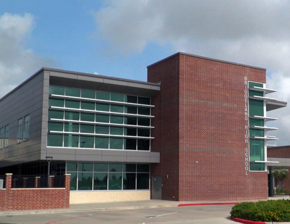 Bridgeland High School Building in Cypress, Texas